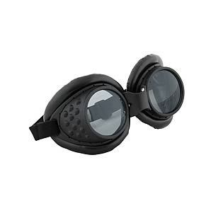 Gold ACE SELECT Novelty Steampunk Goggles Punk Glasses with Black Lens and Adjustable Band Retro Glasses for Cosplay