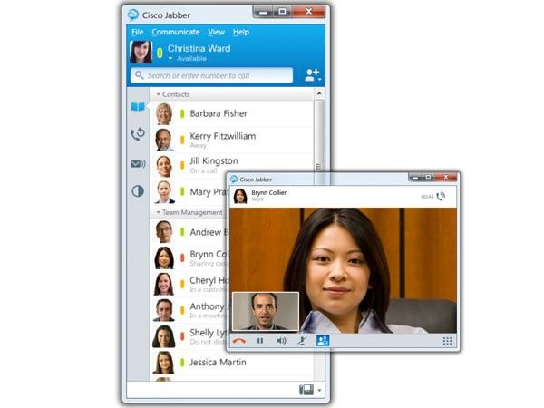 Cisco Jabber instantly interacts with instant messaging (IM