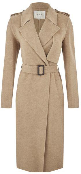 e40486eddf Selected Femme Women's Tana Trench Coat Camel | O U T E R W E A R ...