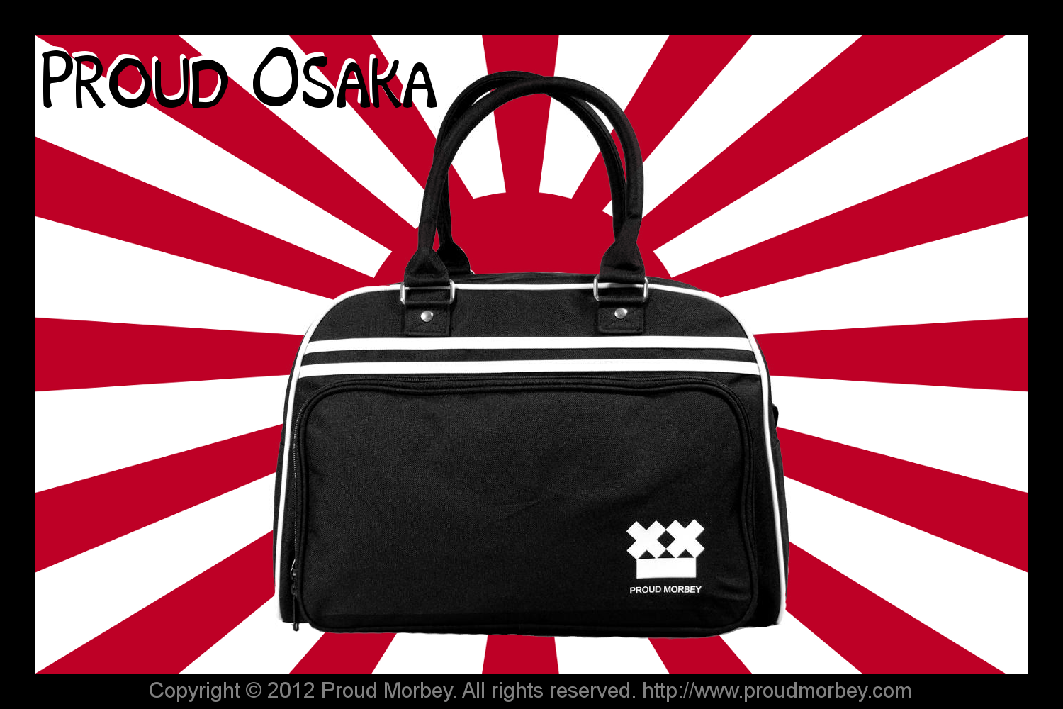 We know it's the japanese war flag. But Proud Osaka just looks sooo cool in this scenary... Don't you think so?