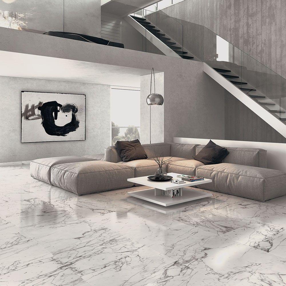 arabescato veined white marble effect matt tiles cachet marble