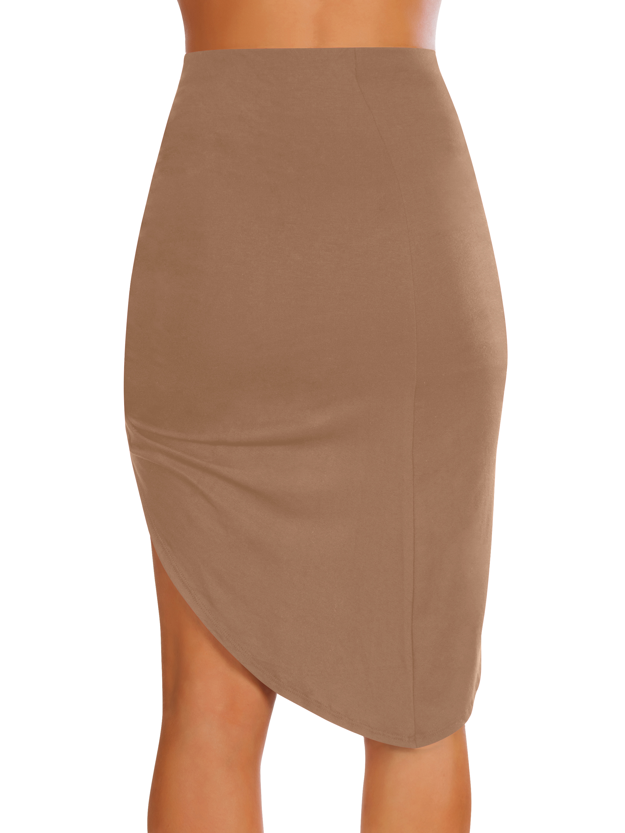 Womens drape up stretchy asymmetrical high low short mini