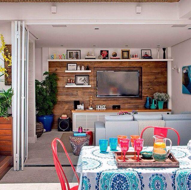 Varanda e sala decoração decor estilo