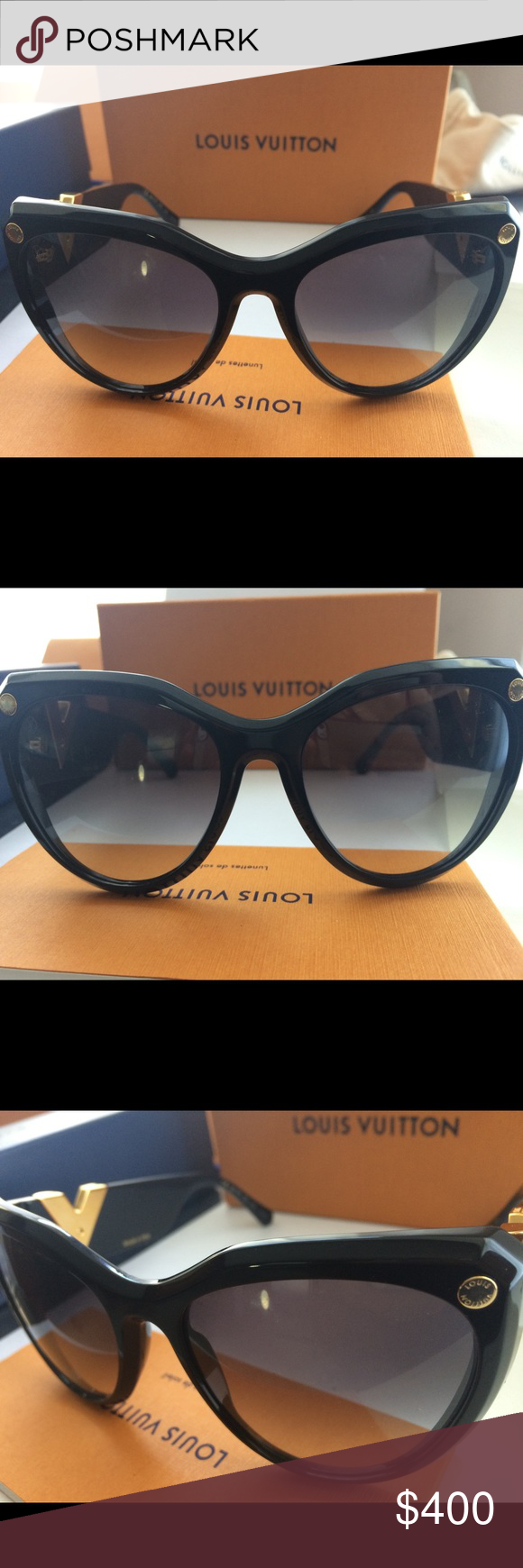 fc8fdad35fc97 (My Fair Lady) Color Black. Got it for my birthday. Brand new. Any  questions comment below Louis Vuitton Accessories Glasses
