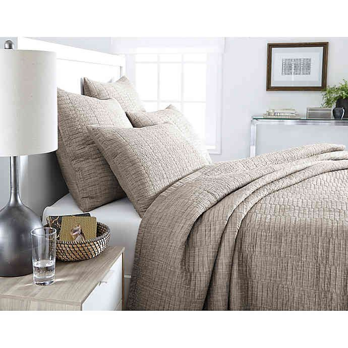 Real Simple® Dune Chambray Reversible Coverlet in 2020 ...