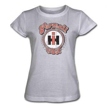 IH Farmall Womens Gray T-Shirt - Farmall USA