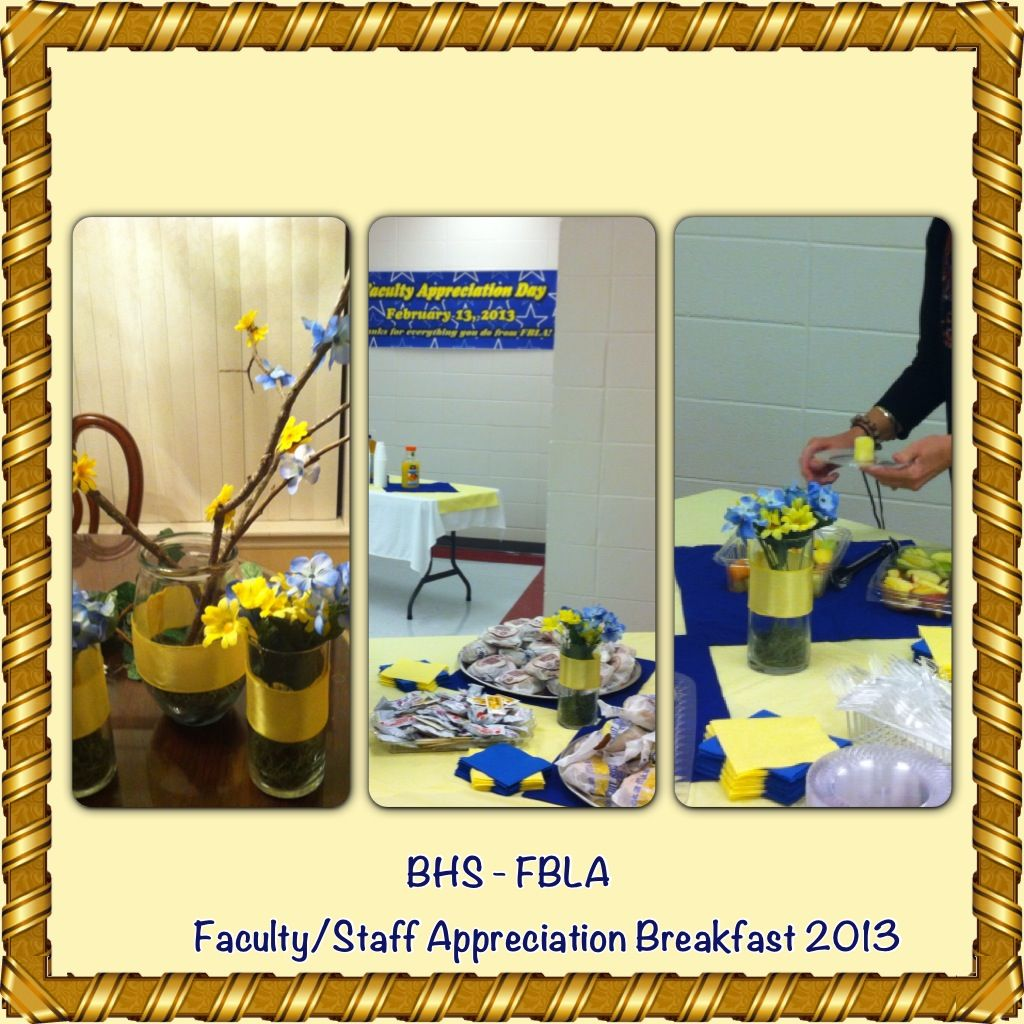 Berrien High School Fbla Faculty Staff Appreciation