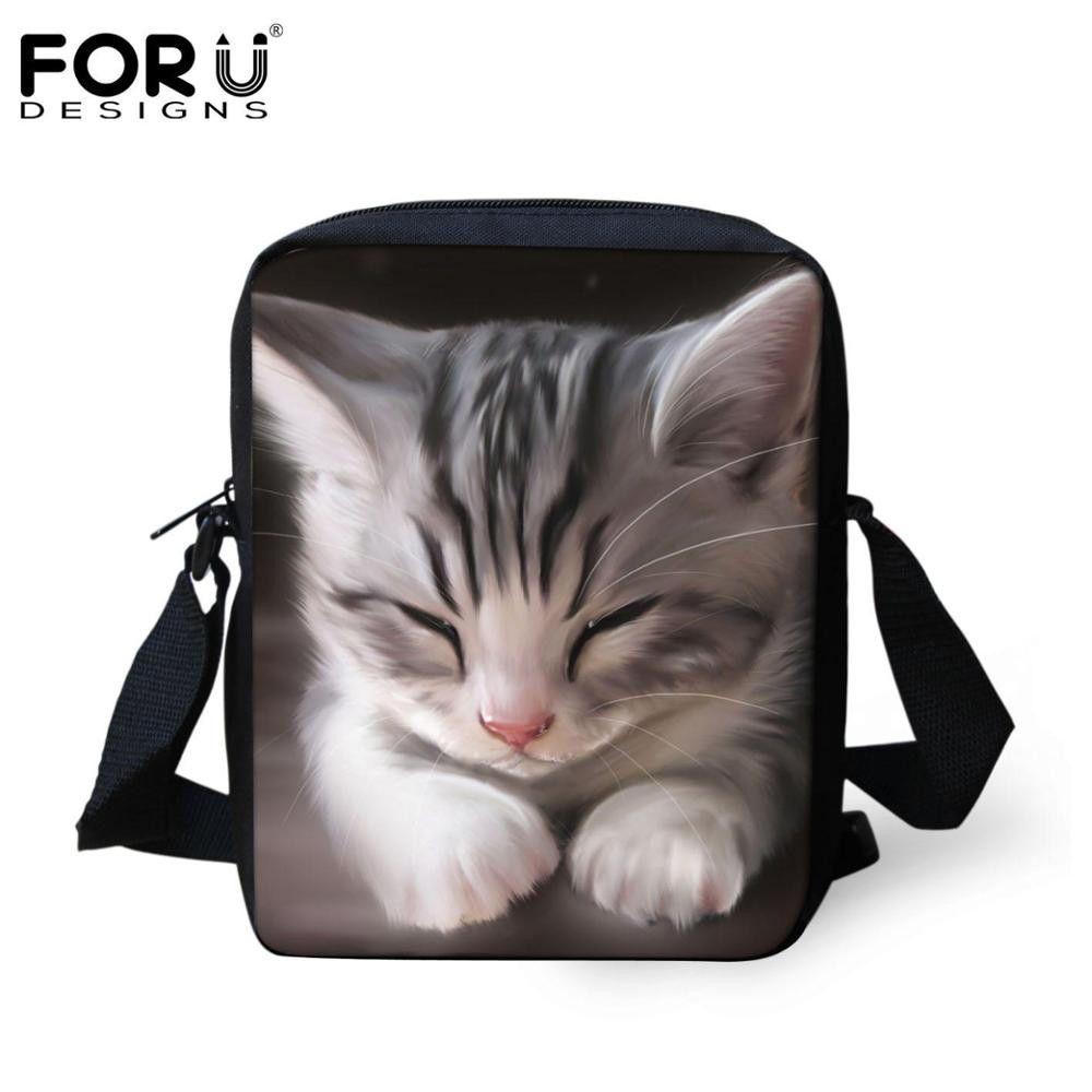 Cool Black Cat Printing Messenger Bags Women Ladies Crossbody Bag Female Travel Cross Body Bag Retail Fashion Handbags hot Sales