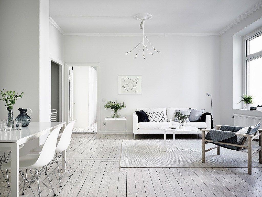 White And Soft Grey Coco Lapine Design Minimalist Apartment