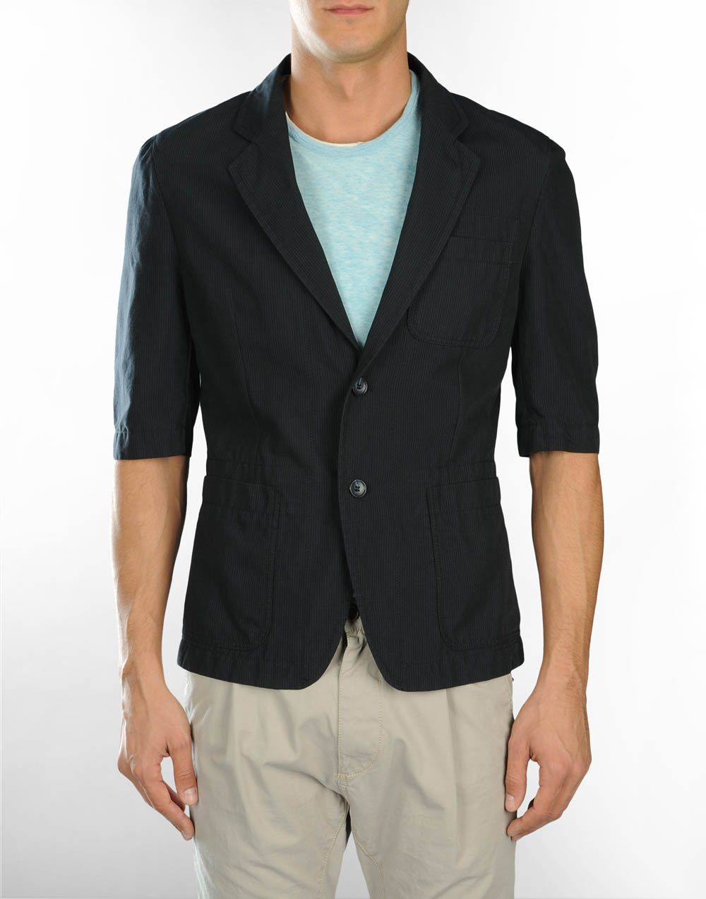 Short Sleeve Mens Blazer
