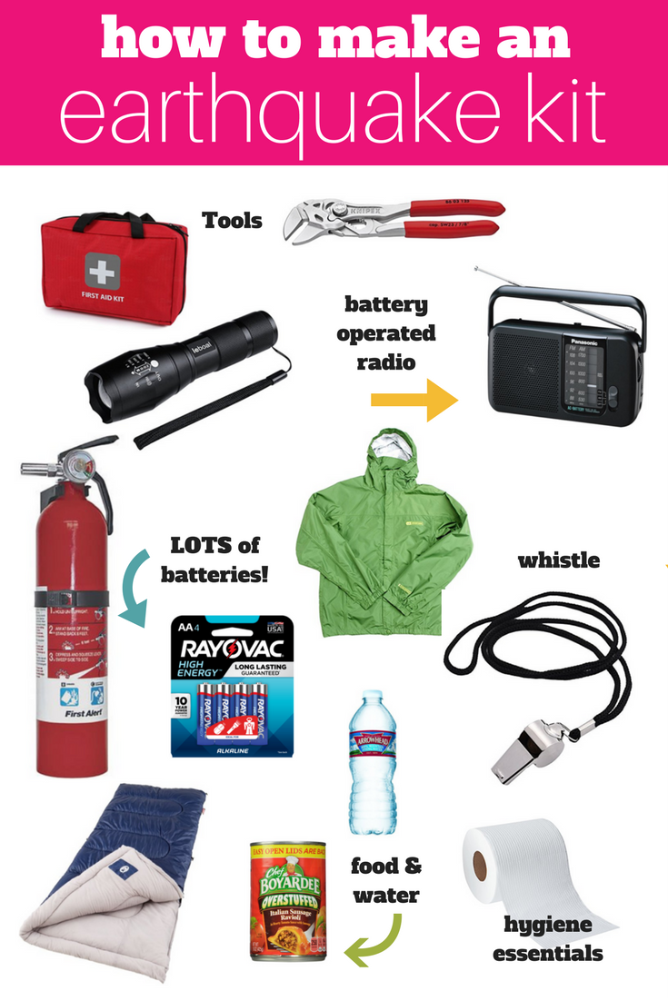 These are the essentials you need to pack for an earthquake kit! Be prepared!