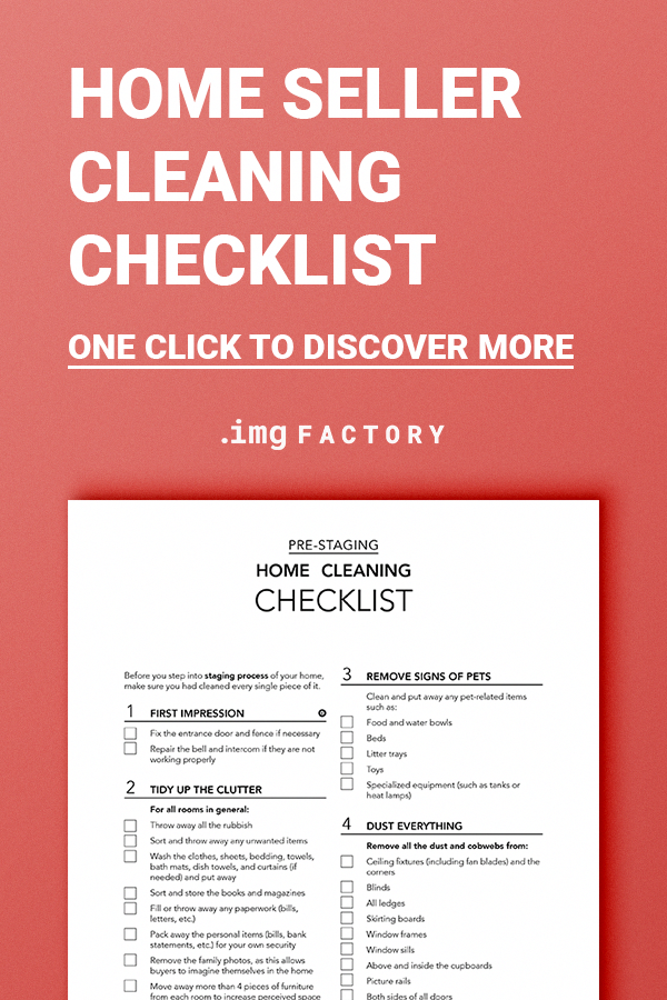 Home Cleaning Checklist, Real Estate Marketing Template, Home Staging, Seller Packet, FSBO Lead Magnet, Opt-In Freebie, Printable PDF