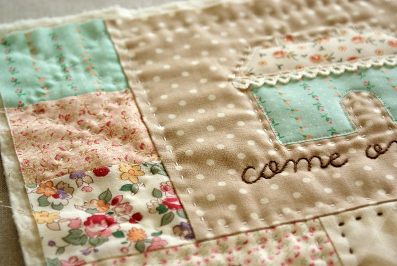 Love the lace on this house!  :) And the fabrics are gorgeous!!