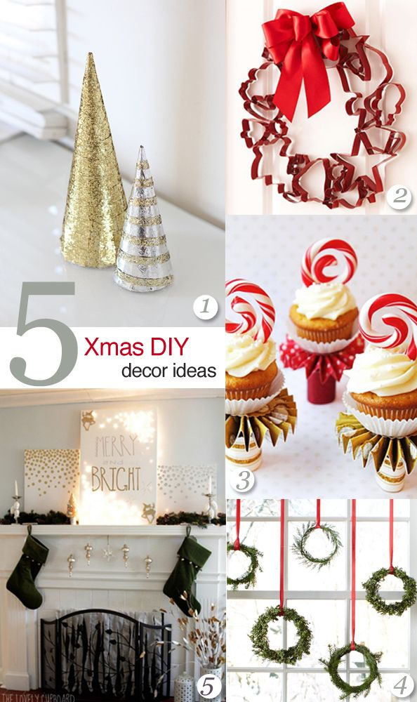 Simple Christmas Decorating Ideas: 5 Easy DIY Christmas Decor Ideas