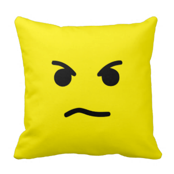 Simple Angry Yellow Face Throw Pillow Zazzle Com Mad Face Pillows Throw Pillows