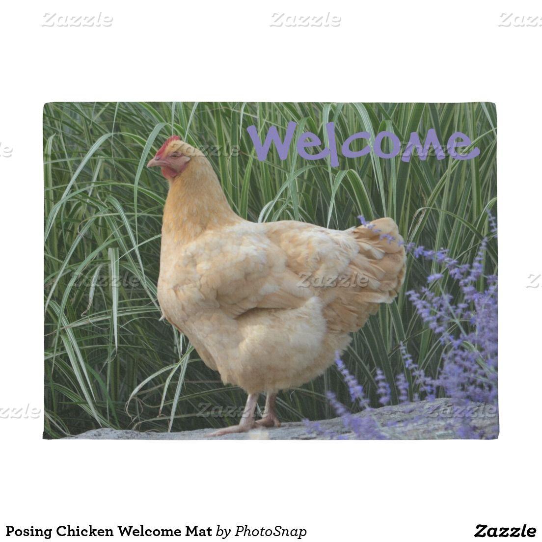 Posing Chicken Mat Chickens