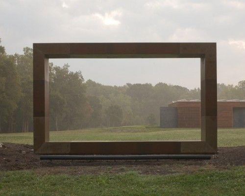 Sculptural window in the garden