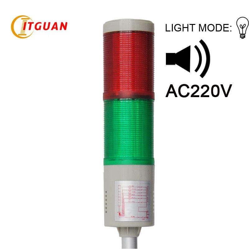 Tower Light Signals Lta 205 Ac220v 2 Layers Bulb Warning Lamp Alarm 90db Indicator Lights Industrial Emergency Strob Tower Light Indicator Lights Strobe Lights