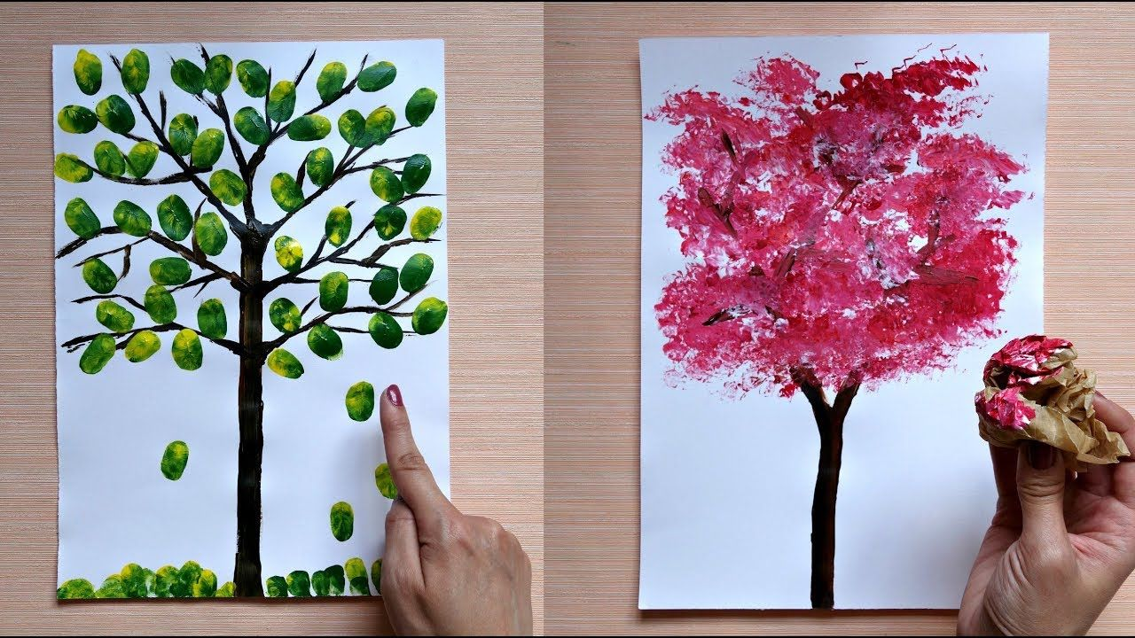 How To Paint A Tree 5 Awesome Painting Tips And Tricks Youtube In 2021 Cool Paintings
