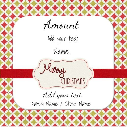 Xmas gift card that can be customized Leo Pinterest Xmas gifts - Christmas Certificates Templates For Word