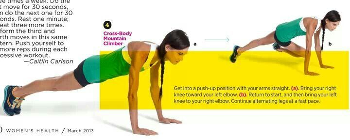 Push up with knee tuck: