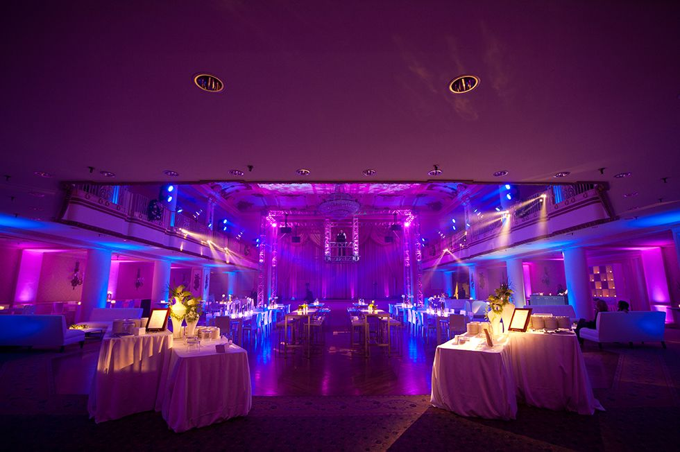Color changing LED wall washing intelligent lighting ceiling wash pin spotting and suspended DJ booth and DJ entertainment for a corporate event . & Color changing LED wall washing intelligent lighting ceiling ... azcodes.com