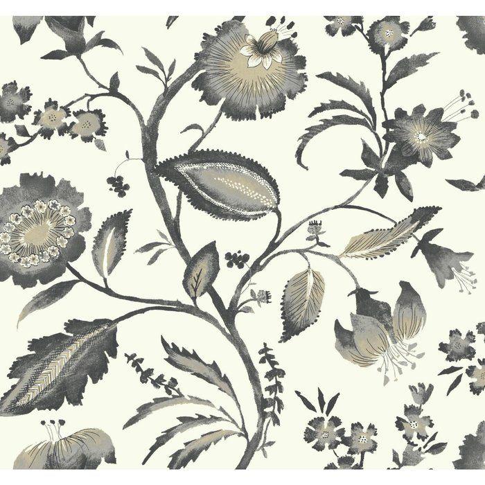 Ashford Tropics 27 X 27 Quot Watercolor Jacobean Wallpaper
