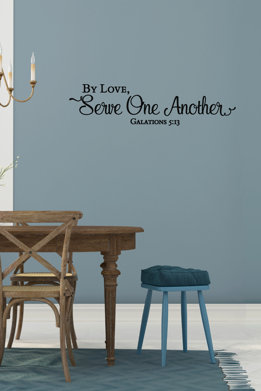 By Love Serve One Another Galatians 5 13 Inspirational Wall Etsy Scripture Wall Art Bible Verse Wall Decals Scriptures Wall