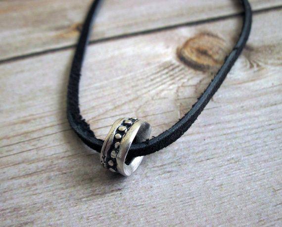 Men's Necklace - Men's Ring Necklace - Men's Silver Necklace - Mens Jewelry - Necklaces For Men - Jewelry For Men - Men's Gift