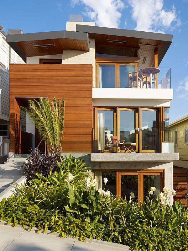 Contemporary 33rd Street Residence In Manhattan Beach Modern Beach House Beach House Design Modern Tropical House