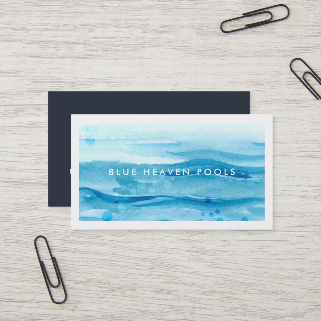 Blue Ripple Pool Care Or Swim Business Card Pool Care Pool