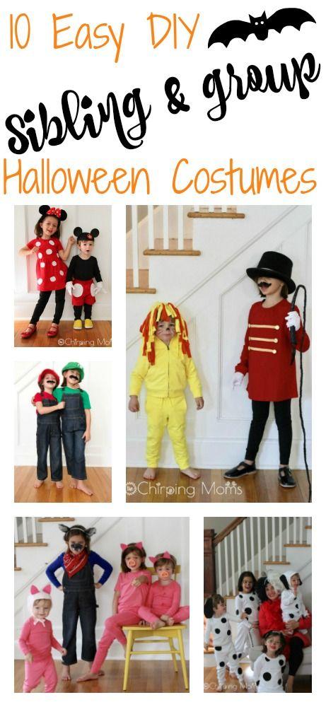 Easy DIY Group Costumes 10 Cute DIY Costumes for Siblings, Friends - mom halloween costume ideas