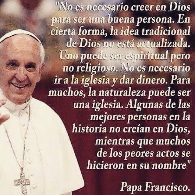 Coincido totalmente con este Papa...si sigue así va hacia un buen cambio la iglesia católica