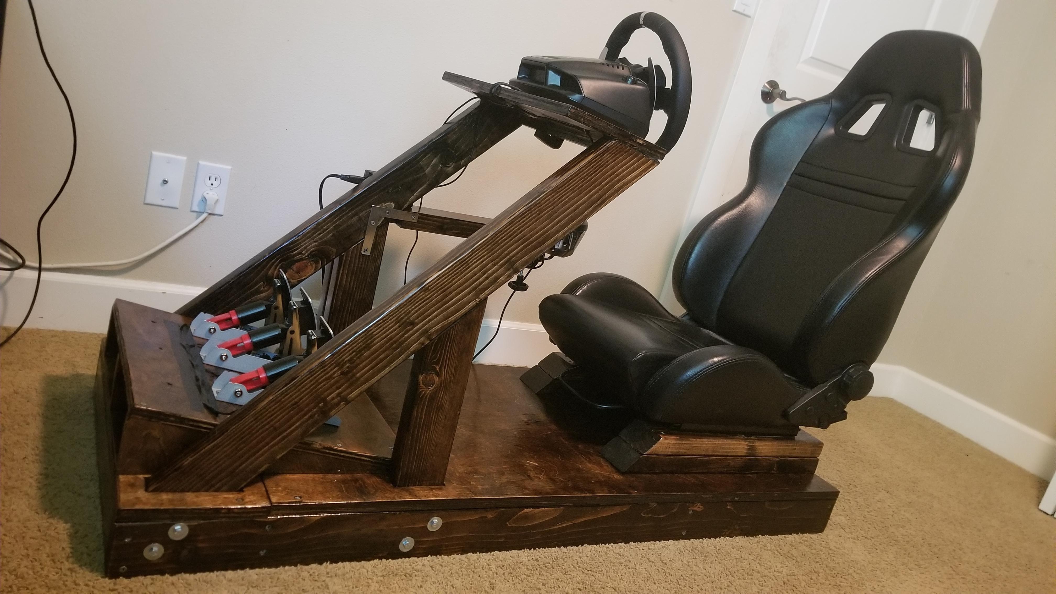 First big project DIY Sim Racing Setup! Built by a
