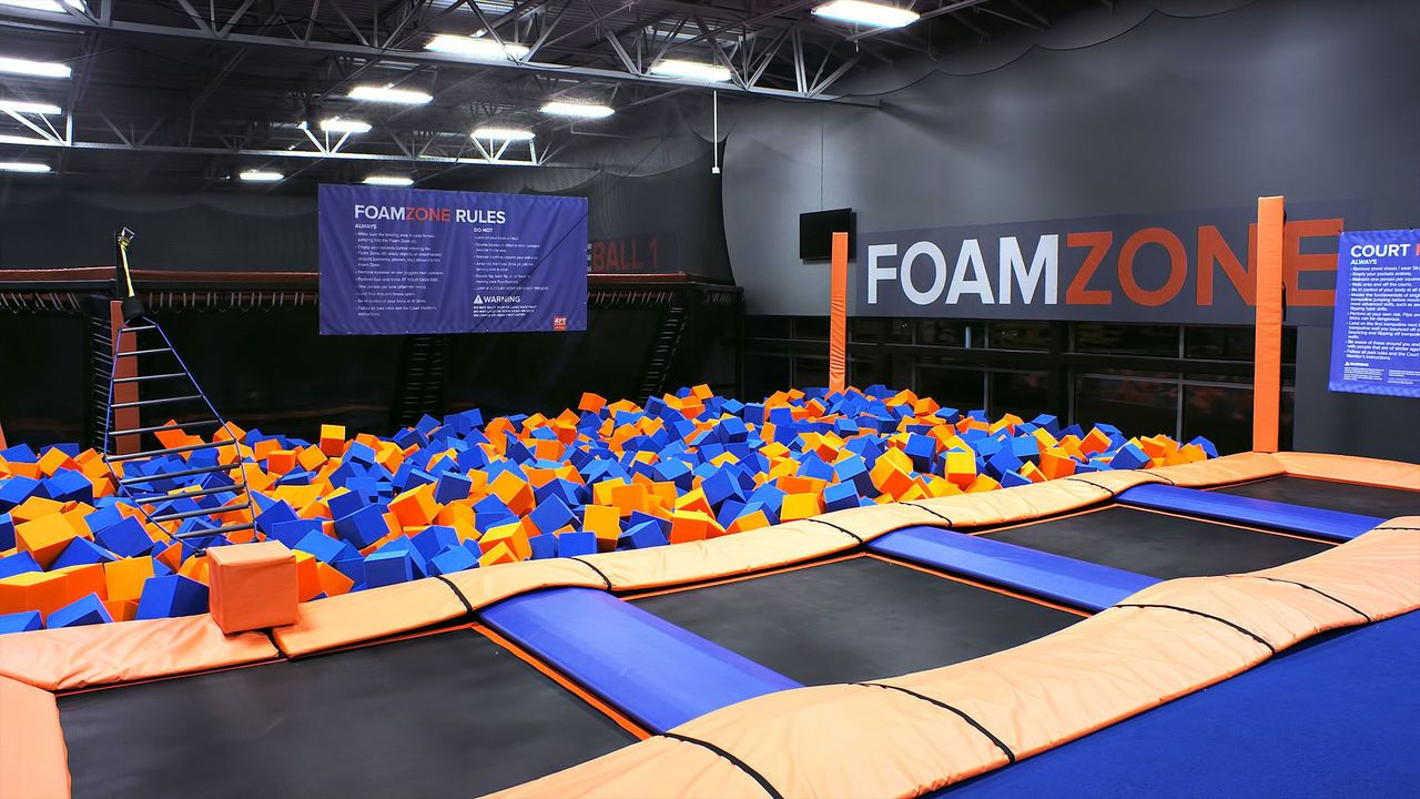 Book Your Next Birthday Party Or Event At Sky Zone Visit Our Site To Learn More Then Buy Tickets Online At Sky Zon Trampoline Park Indoor Trampoline Sky Zone