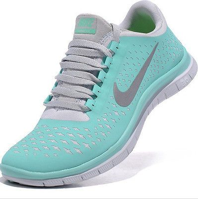 reputable site 87d7f 219b2 NEW Nike Free Run Women 3.0 V4 Mint Green Blue Tropical Twist Tiff US 8 Eur  39