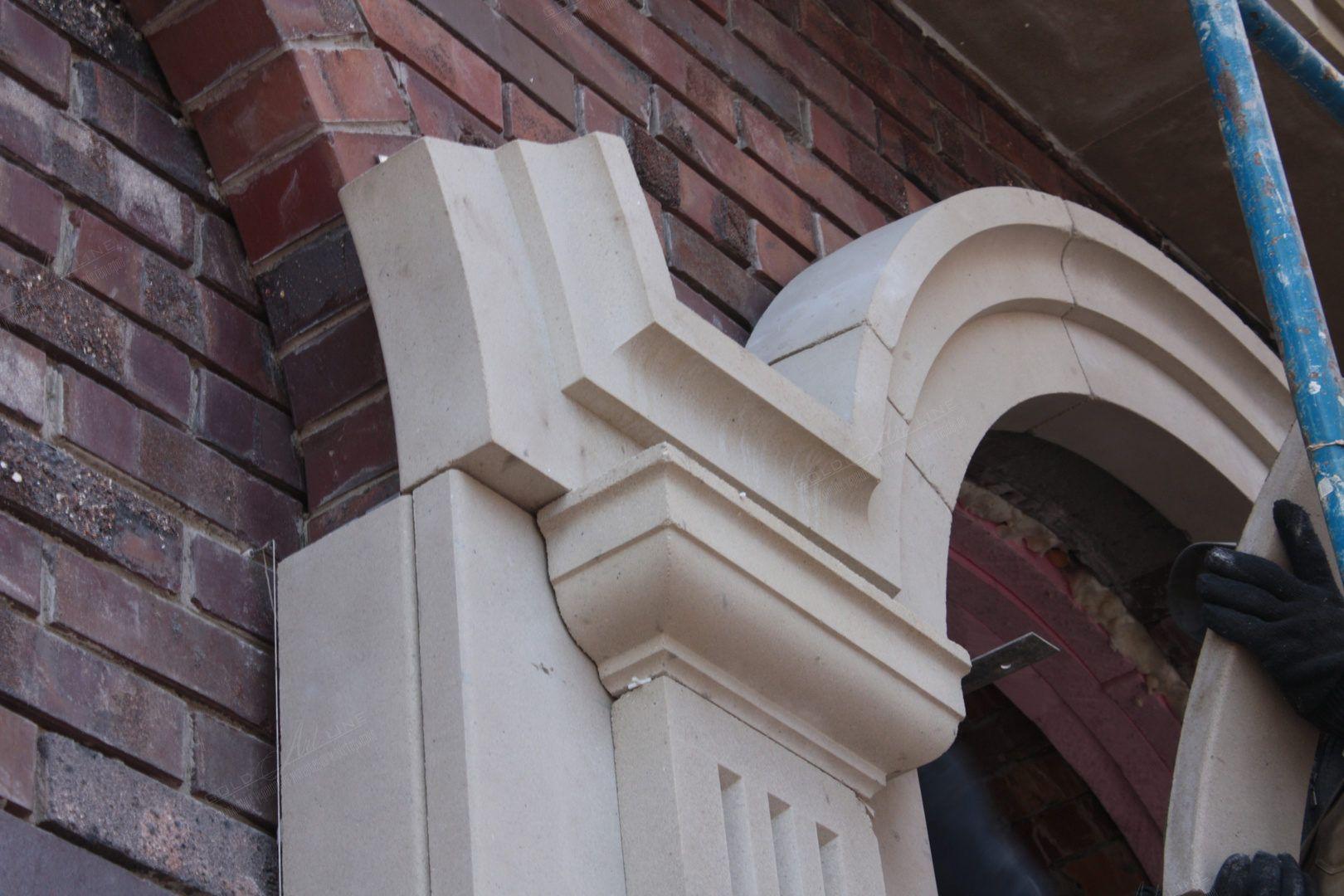Фасадный декор фибробетона туалет из керамзитобетона