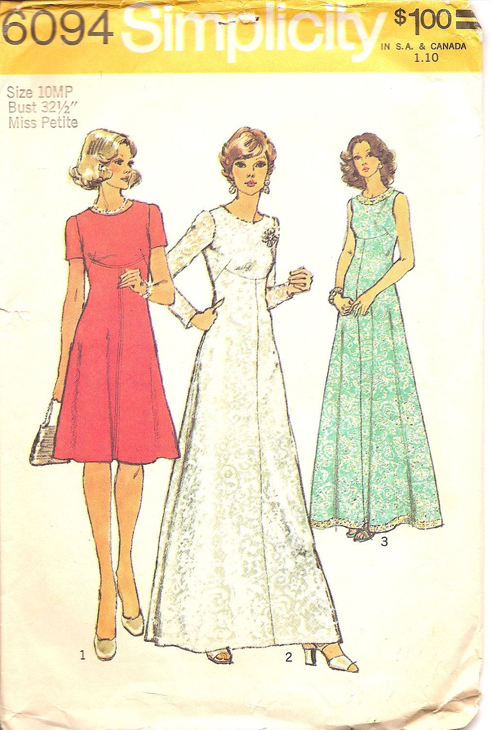 S vintage sewing patterns s dress pattern simplicity