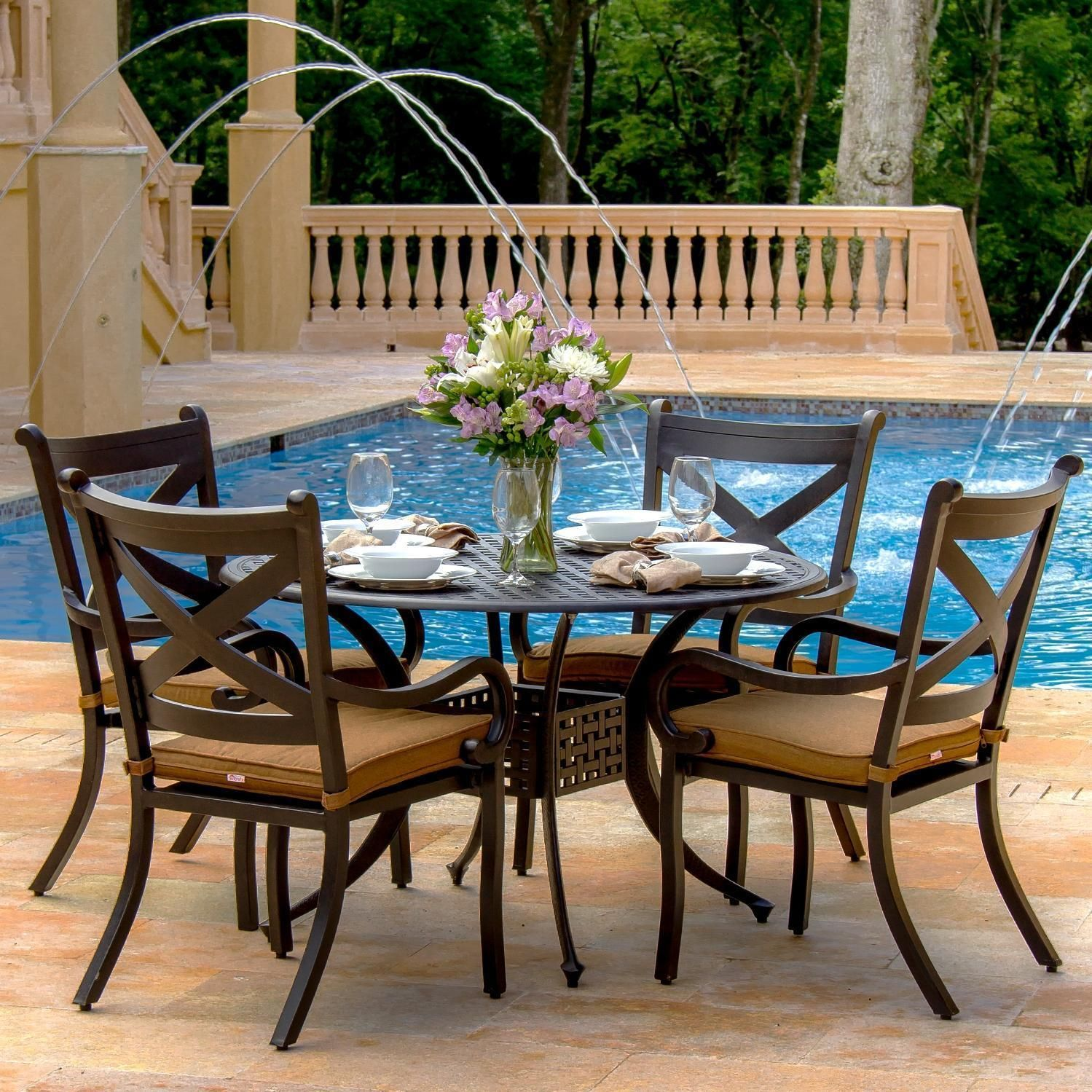 Lakeview Dining Room Inspiration Lakeview Outdoor Designs Avondale 4Person Cast Aluminum Patio Design Inspiration