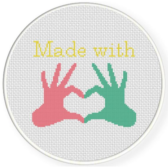 FREE for April 29th 2015 Only - Made With Love. Cross Stitch *♥* Heart