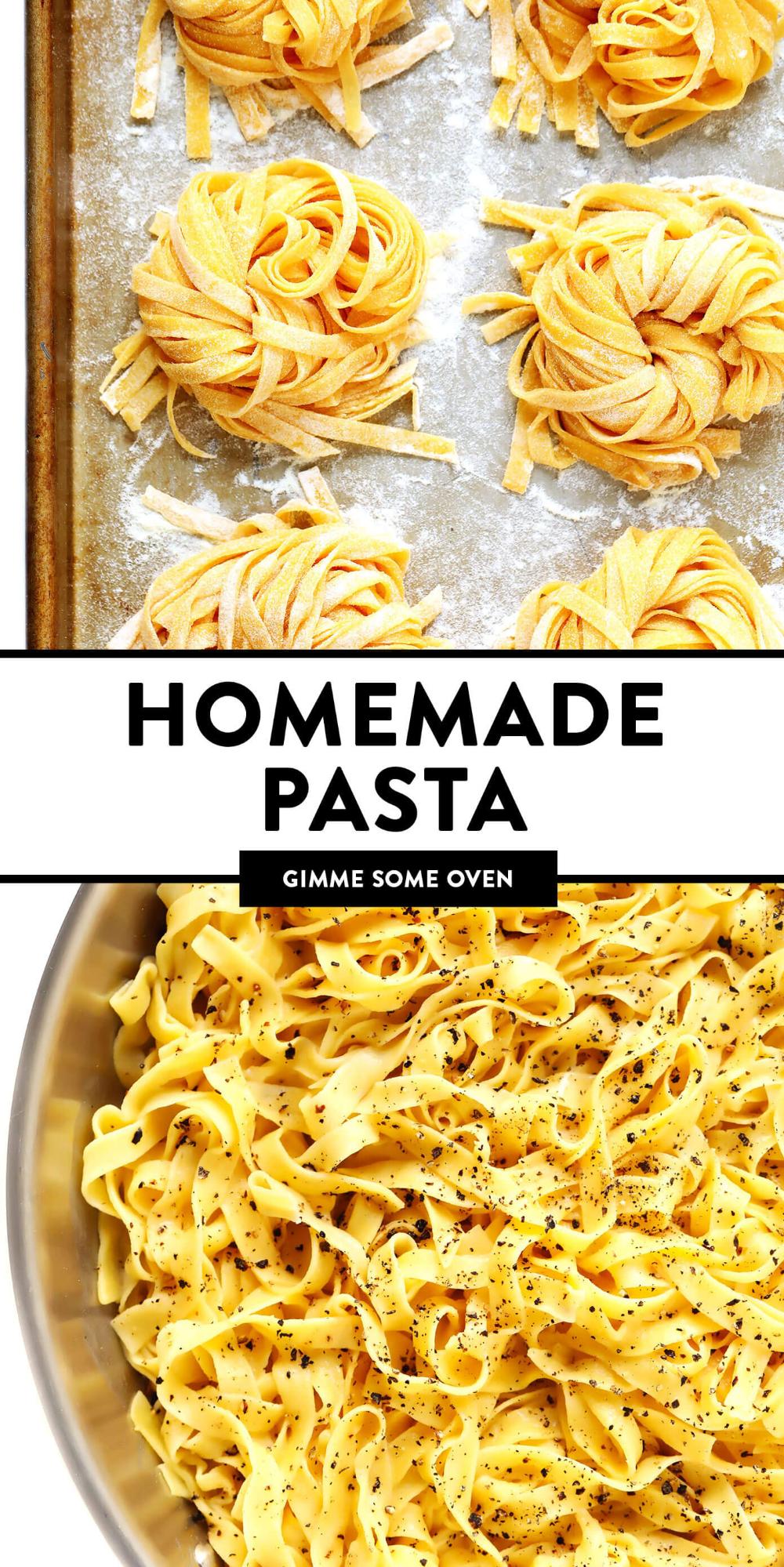 Homemade Pasta Gimme Some Oven Recipe Homemade Pasta Recipe Food Processor Recipes Cooking Fresh Pasta