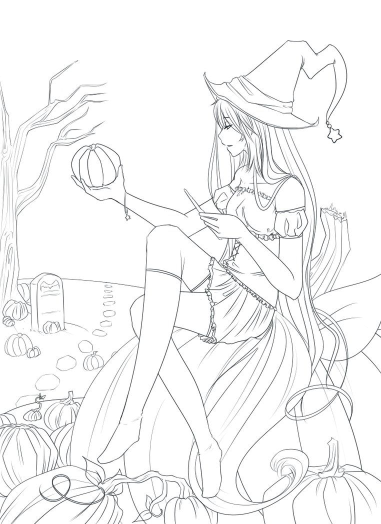 blank halloween coloring pages - photo#33