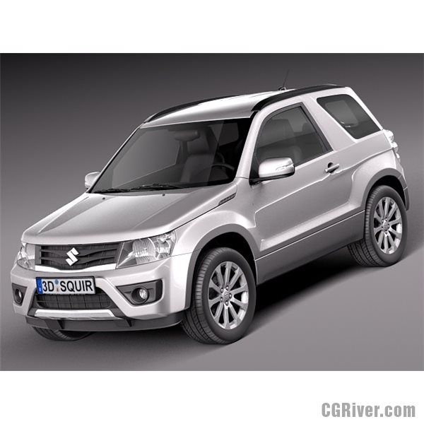 Suzuki Grand Vitara 2013 3 Door 3d Model Grand Vitara Grand