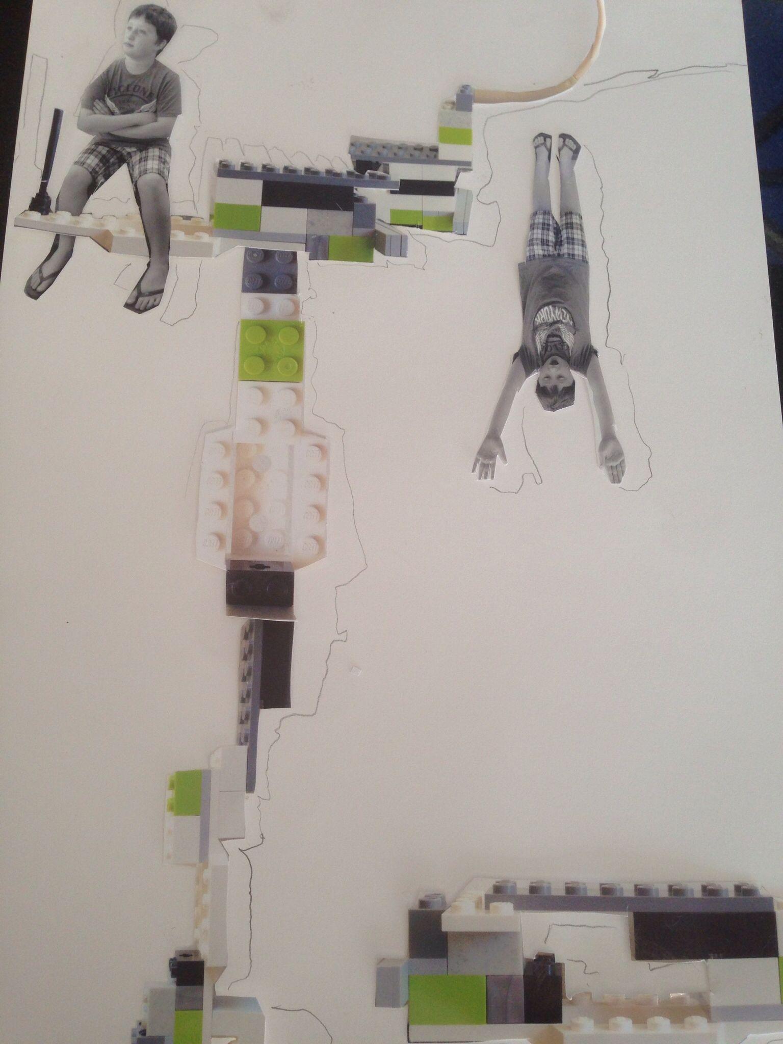 Lego collage in progress. smallSHOP