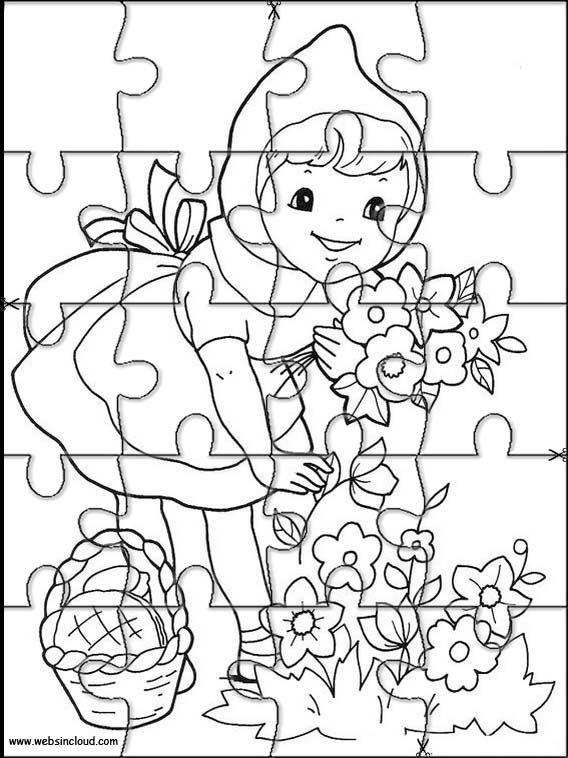 Imprimir Quebra Cabeca Chapeuzinho Vermelho 3 Com Imagens