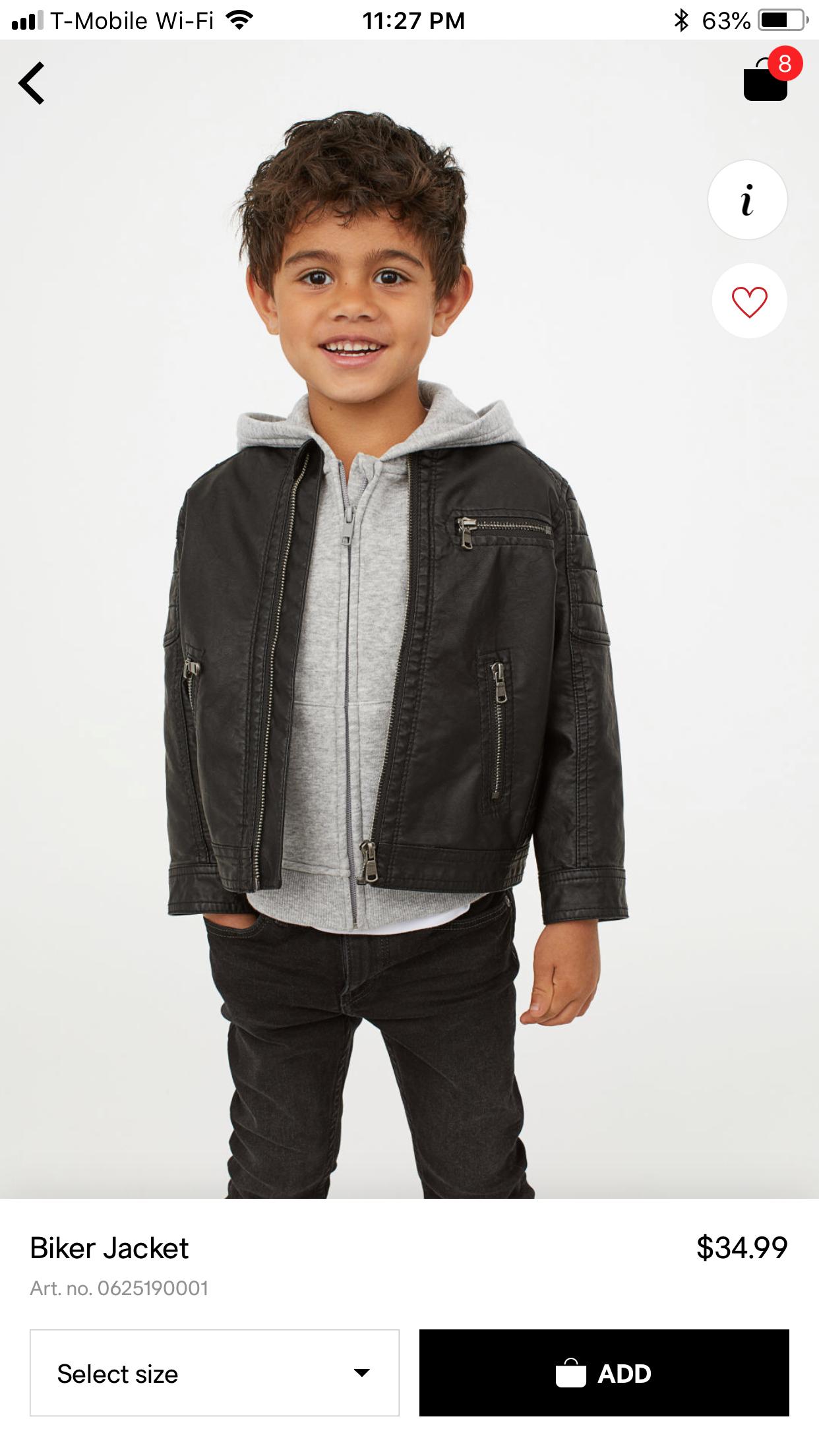 H M Faux Leather Jacket Boy Fashion Baby Boy Fashion Toddler Girl Outfits [ 2208 x 1242 Pixel ]