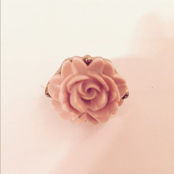Statement Flower Ring Gold a light pink flower ring! TRADES Boutique Jewelry Rings