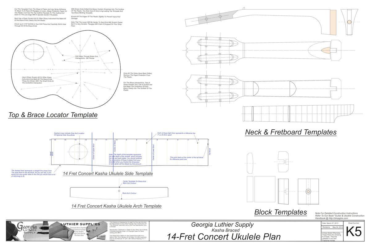 small resolution of concert sized 14 fret kasha braced ukulele electronic version electric 6 guitar