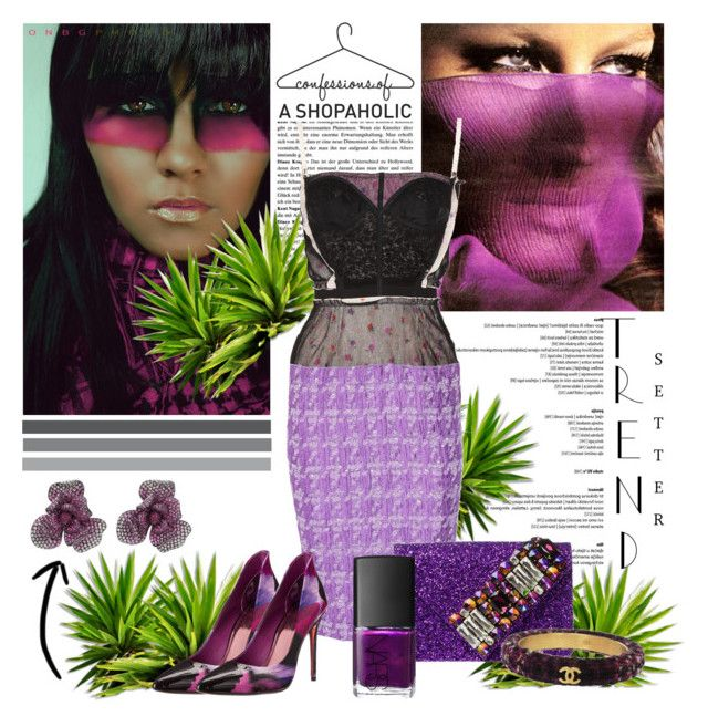 """""""Violet Days"""" by itgirl2010 ❤ liked on Polyvore featuring Wendy Yue, Tema, Nina Ricci, GEDEBE, Ted Baker, Chanel, NARS Cosmetics and violetcontest"""