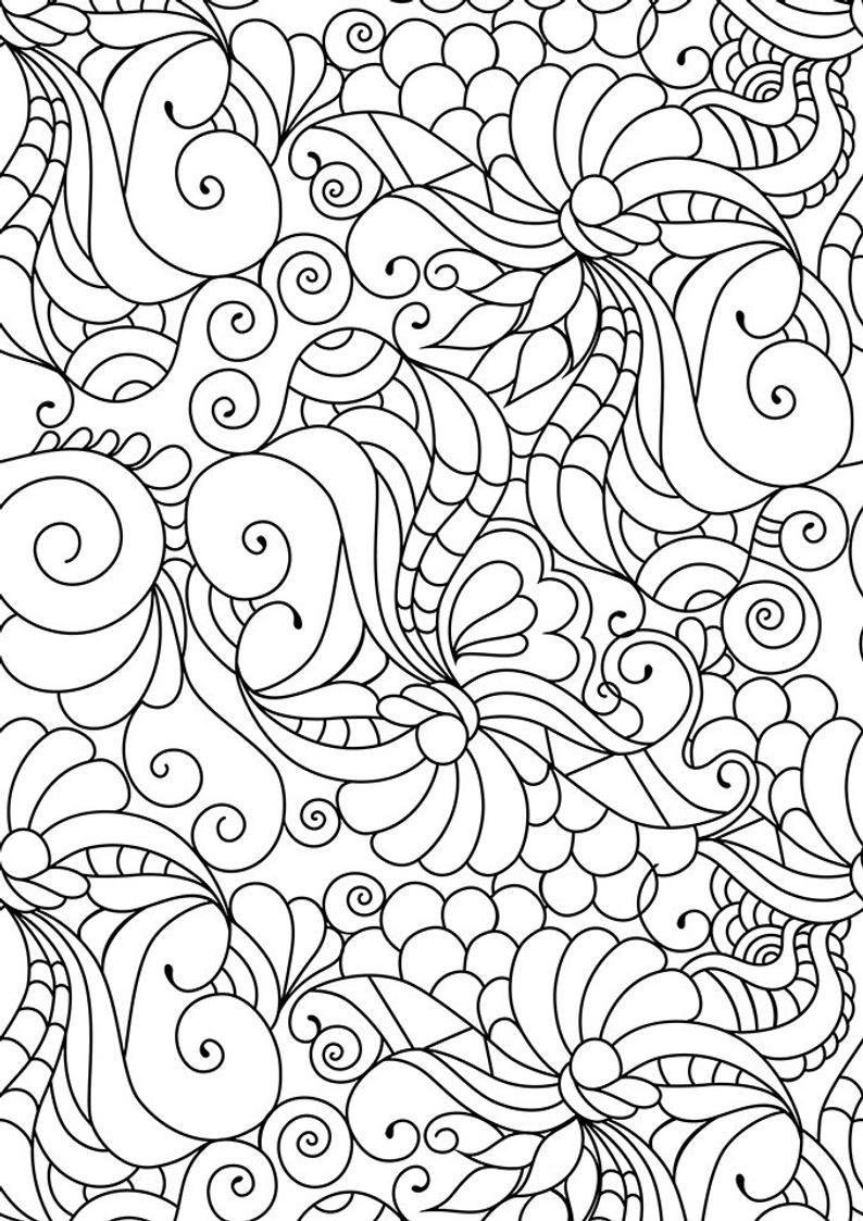 Doodle Art Coloring Zen Coloring Page Zen Doodle Coloring Etsy Coloring Pages Pattern Coloring Pages Mandala Coloring Pages